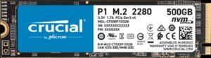 כונן קשיח Crucial P1 CT500P1SSD8 500GB SSD PCIe NVMe M.2 2280