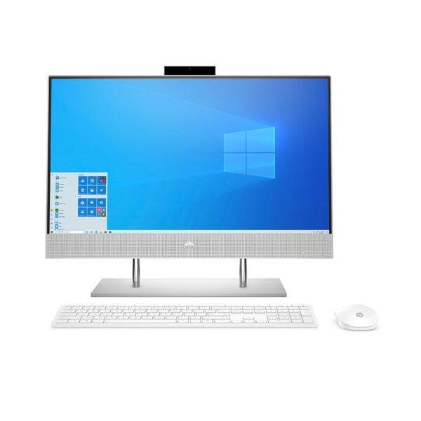 """מחשב נייח HP AIO 23.8"""" FHD 24-dp0102nj/i5-10400T/8GB/512GB NVMe/Windows 10 HOME/Silver/3YW"""